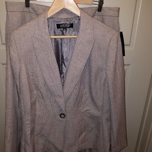 Taupe Kasper 2PC Suit with Pants